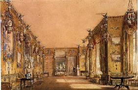 Interior of the Yellow Drawing Room at Brighton Pavilion c.1820  &