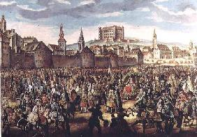 The Arrival of Empress Maria Theresa of Austria (1717-80) at Pressburg (Bratislava)
