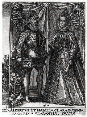 Portrait of Albert, Archduke of Austria (1559-1621) and his wife Isabella Clara Eugenia (1566-1633)