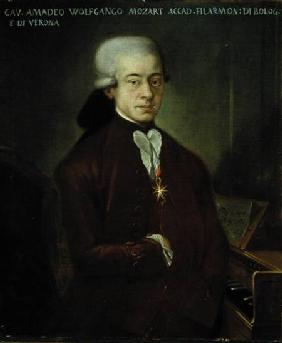 Portrait of Wolfgang Amadeus Mozart (1756-91) wearing the Order of the Golden Spur 1777