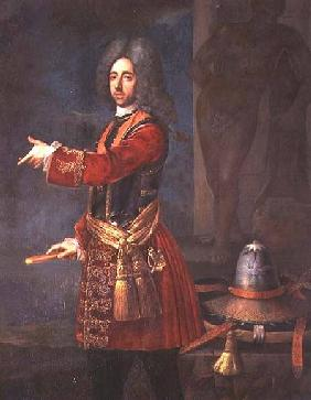 Prince Eugene of Savoy (1663-1736) at the Siege of Belgrade 16th Augus
