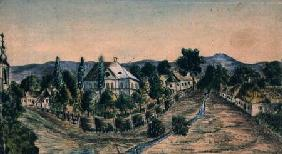 View of a Country Village c.1830  on