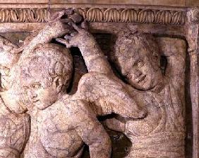 Detail of post-restoration panel No.IV from the exterior pulpit of Prato Cathedral 1438