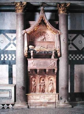 View of the tomb of Pope John XXIII (c.1370-1419)