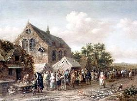 Poultry Market by a Church