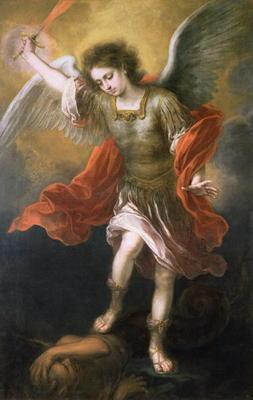 Saint Michael banishes the devil to the abyss, 1665/68 19th