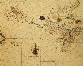 Central America, from an Atlas of the World in 33 Maps, Venice, 1st September 1553(detail from 33096