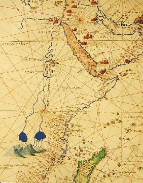 Part of Africa, from an Atlas of the World in 33 Maps, Venice, 1st September 1553(detail from 330955