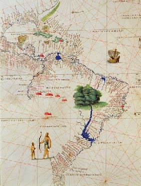 South America, from an Atlas of the World in 33 Maps, Venice, 1st September 1553(detail from 330959)