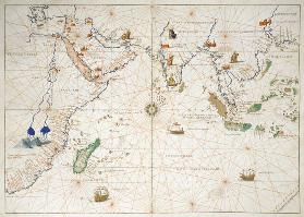 The Indian Ocean, from an Atlas of the World in 33 Maps, Venice, 1st September 1553(see also 330956) 1553