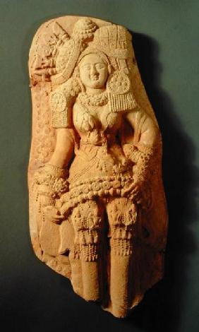 Moulded plaque of a Yakshi, Tamluk c.200 BC