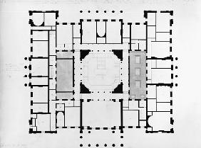 Plan of the Mezzanine floor, 1815