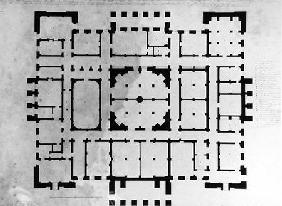 Plan of the Basement floor of a house, 1815