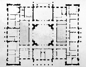 Plan of the Bedchamber floor of a house