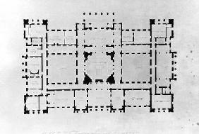 Plan of the principal floor 1815  and