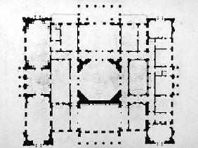Plan of the principal floor of a house, 1815