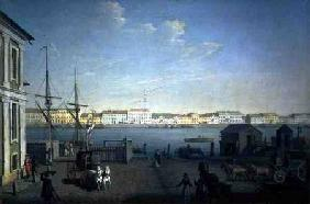 English Shore Street in St Petersburg 1790s