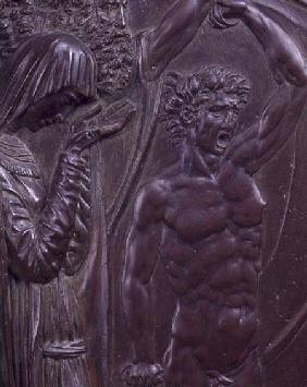 Perseus Rescuing Andromeda, detail of a screaming man