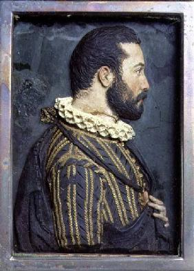 Portrait Relief of Francis I King of France (1494-1547) (wax)