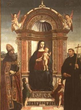 Madonna and Child with St. Nicholas of Tolentino and St. Augustine 15th