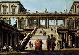 Ideal Landscape with Palace Steps 1762