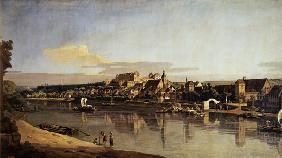 View of Pirna from the right bank of the Elbe c.1753