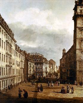 Kunstpostkarte Canaletto Die Trümmer der ehemaligen Kreuzkirche in Dresden