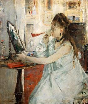 Young Woman Powdering her Face 1877
