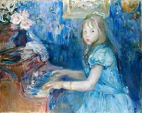 Lucie Leon at the Piano 1892
