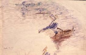 Sketch of a Young Woman in a Boat 1886