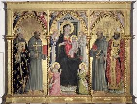 Madonna and Child with St. Louis of Toulouse, St. Francis of Assisi, St. Anthony of Padua and St. Ni 1802