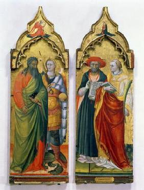 St. Andrew, St. Michael, St. Jerome and St. Lawrence (tempera on panel)