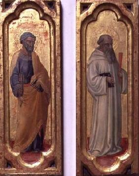 St. Peter and St. Benedict (tempera on panel) 1802