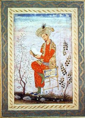 Babur (r.1526-30) Reading, Mughal  on