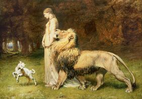 Una and the Lion, from Spenser's Faerie Queene 1880