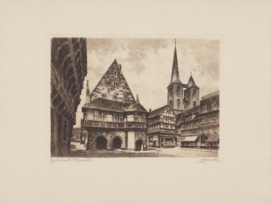 Vliestapeten Ziehen Sich Zusammen : Halberstadt, Fischmarkt – Bruck als Kunstdruck oder handgemaltes