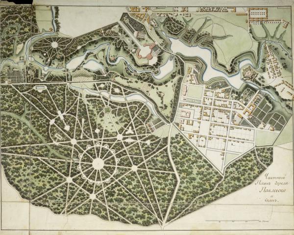 pawlowsk schlo park karte 1803 bugrejew alexander als kunstdruck oder handgemaltes gem lde. Black Bedroom Furniture Sets. Home Design Ideas