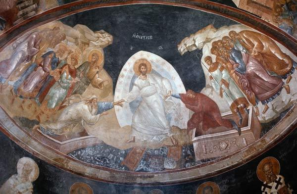Anastasis in the Parecclesian apse vault 1310-20