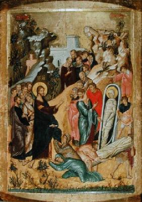 The Raising of Lazarus (tempera & gold leaf on panel)