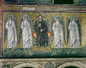 Christ enthroned with the angels
