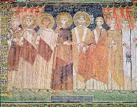Constantine IV granting Bishop Reparatus privileges for the church of Ravenna, 671-77