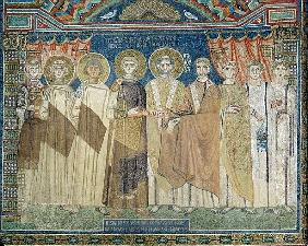 The Emperor Constantine IV grants tax immunity to the Archbishop of Ravenna