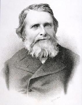 Portrait of John Ruskin (1819-1900) (engraving) 14th