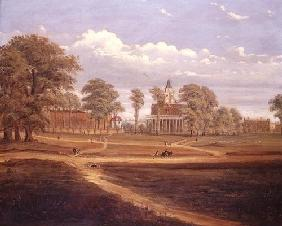 View across Clapham Common towards North Side and The Pavement, 1878 (oil on canvas) 19th