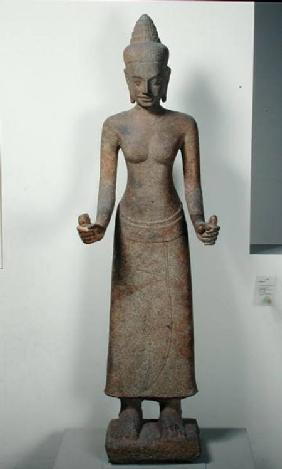 Statue of the goddess, Lakshmi, from Preah Ko, Bayon Style 12th-13th
