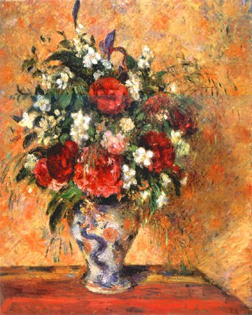 Bild camille pissarro blumen in einer vase