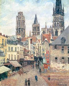 Rue de l'epicerie at Rouen, on a Grey Morning 1898