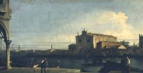 Kunstdruck von Giovanni Antonio Canal (Canaletto) - The Church of S. Giovanni dei Battuti, Murano