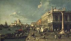 Kunstdruck von Giovanni Antonio Canal (Canaletto) - The Molo and the Zecca, Venice
