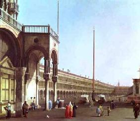 Kunstdruck von Giovanni Antonio Canal (Canaletto) - Piazza di San Marco from the Doges' Palace